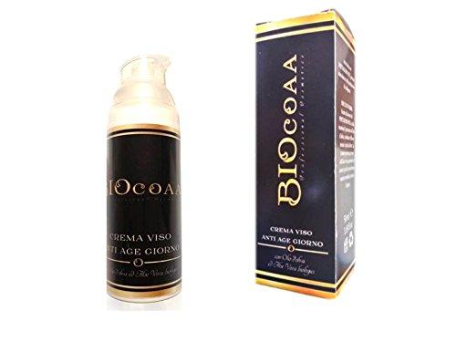 crema viso - anti age - giorno - con acido ialuronico , olio d'oliva e aloe vera - idratante - anti- invecchiamento - effetto lifting immediato - biologico certificato - made in italy - 50 ml