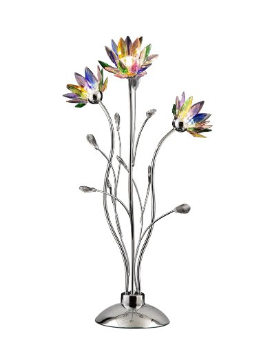 OK LIGHTING 5115T 32 5 Inch H Floral Crystal Table Lamp