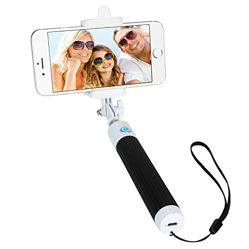 Dealgadgets Extendable Foldable All in One Self Portrait Monopod with Built in Bluetooth Remote Shutter for IOS 5.0 and Android 4.2 Smartphones Bundle with Cleaning Cloth Black
