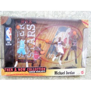 1999-2000 Mattel NBA Super Stars Then & Now Collection 4-Figure Box Set - Michael Jordan