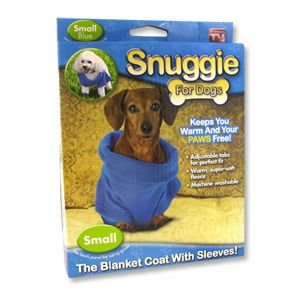 Snuggie for Dogs Blue Colored Fleece Blanket