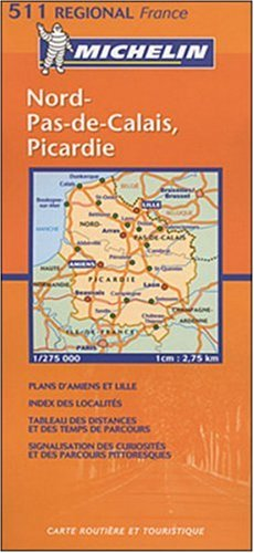 Michelin Nord-Pas-De Calais, Picardie, France (Michelin Local France) (Multilingual Edition)