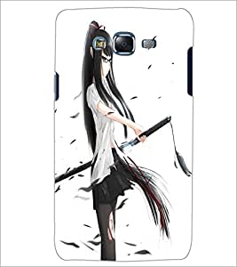 PrintDhaba Girl with Sword D-1203 Back Case Cover for SAMSUNG GALAXY ON 7 (Multi-Coloured)