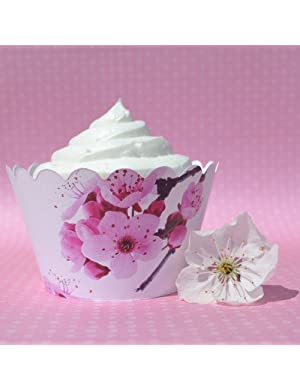 Click to buy Dress My Cupcake Sakura Cherry Blossom Cupcake Wrappers from Amazon!