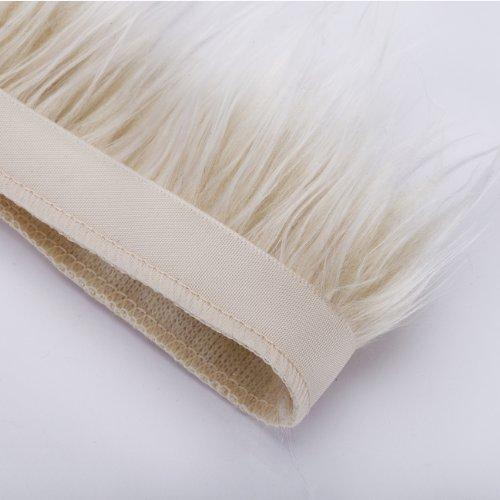 Neotrims di qualità in finta pelliccia, 2 tonalità, su nastro satinato con bordo, per Costume, lavori creativi, cappe & cappotti Edging. terra, 5 colori naturali Silky pelliccia peli, 7-8 cm di lunghezza.