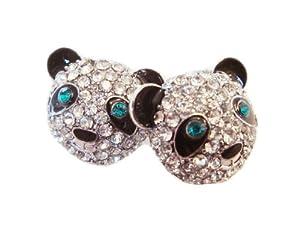 Crystal Cute Panda Stud Earrings