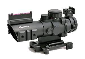 Hammers Compact Prism Rifle Scope 4x32 with BDC Illuminated Multi-line Reticle... by Hammers