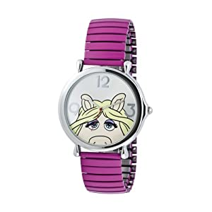 Disney Muppets Miss Piggy Silver Tone Expansion Watch