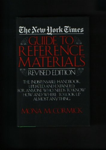 New York Times Guide to Reference Materials, Mona Mccormick