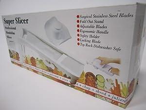Super Slicer Professional Mandoline Slicer (WHITE, 1)