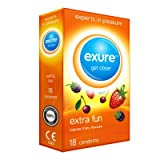 Exure Fruity Flavoured condoms pack of 18 - 100% electronically tested, CE0123 certified