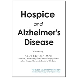 Hospice and Alzheimer's Disease