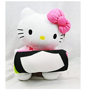 Sanrio-Hello Kitty Plush Doll With Fleece Blanket