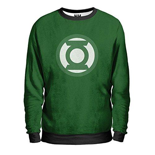LANTERNA VERDE - DC Comics Sweatshirt Man - Felpa Uomo - Anello Cavalieri Dello Smeraldo, T-Shirt Green Lantern Fumetti Film Supereroi