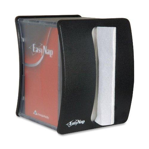 Georgia-Pacific EasyNap 54520 Black Tabletop Napkin Dispenser With Merchandising Window (Case of 6)