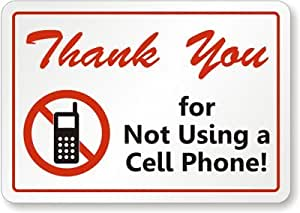 amazoncom thank you for not using cell phone with no