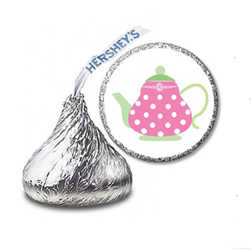216 Tea Pot Labels/Stickers for Hershey's Kisses Candies - Party Favors by JS&B Entperises (Teapot Stickers compare prices)