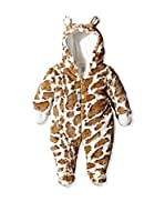 Pitter Patter Baby Gifts Buzo Bebé Snowsuits (Marrón / Blanco)