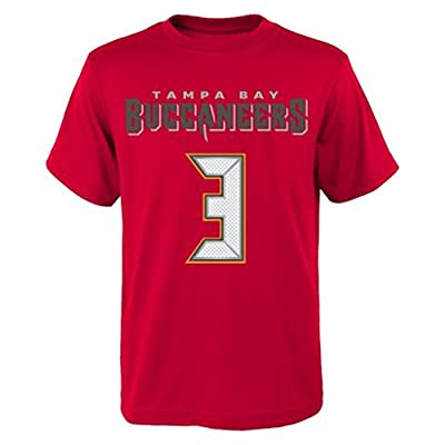 NFL Jameis Winston # 3 Youth Boys 8-20 Name & Number Short Sleeve Tee