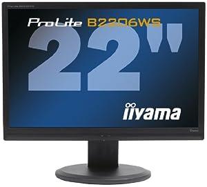 Iiyama PLB2206WS-B1 55,8 cm (22 Zoll) Widescreen TFT Monitor DVI-D, VGA (Kontrastverhältnis 10000:1, Reaktionszeit 2ms) schwarz