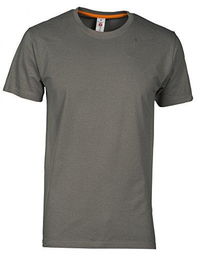 T-Shirt Da Lavoro Maglietta Manica Corta Girocollo 100% Cotone Payper Sunset, Colore: Smoke, Taglia: M
