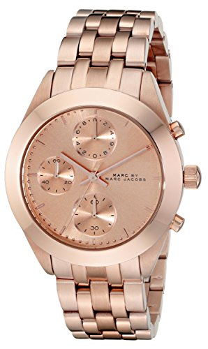 Marc Jacobs Women's 36mm Chronograph Gold Steel Bracelet & Case Watch MBM3394