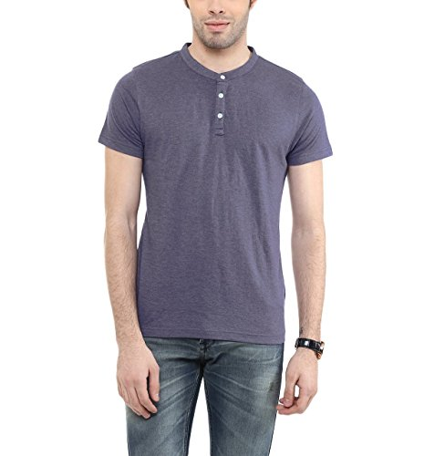 American-Crew-Mens-Henley-Half-Sleeve-Solid-T-Shirt