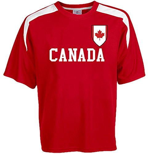 Customized Canada Soccer Jersey Adult Small in Scarlet Red and White (Canada Soccer compare prices)