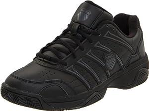 K-Swiss Men's Grancourt II Tennis Shoe,Black/Castle Gray,10 M US