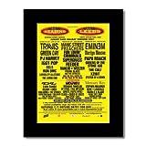 READING/LEEDS FESTIVAL - 2001 - Eminem Travis Manic St Preachers Matted Mini Poster - 28.5x21cm