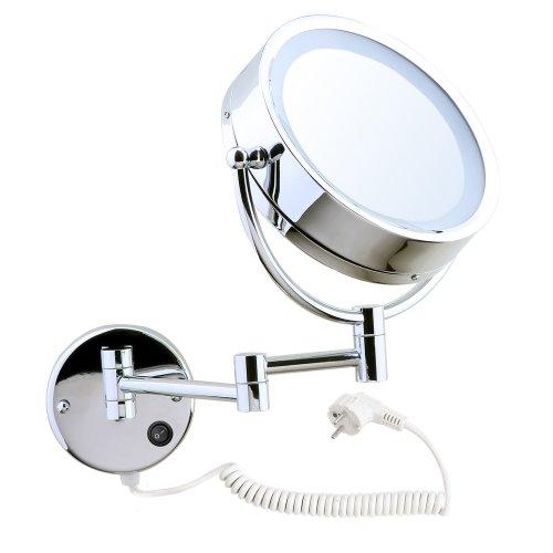 songmics pliable miroir de mur cosm tique clair lumineux 2 surfaces normal grossissement 7. Black Bedroom Furniture Sets. Home Design Ideas