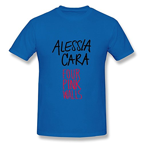 Men's Four Pink Walls Alessia Cara T-shirt L RoyalBlue (Sharpe Daryl compare prices)