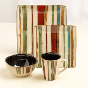 American Atelier Canyon Striped Dinnerware Set,