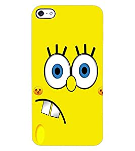 ColourCraft Funny Image Design Back Case Cover for APPLE IPHONE 4