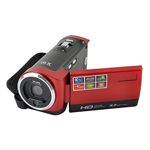 Oceantree Hd 720P 16Mp Digital Video Camcorder With Dv Dvr 2.7'' Tft Lcd Screen And Hd Video Recording (Red)