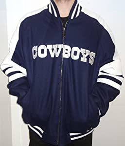 Dallas Cowboys Wool leather Reversible Jacket by NFL