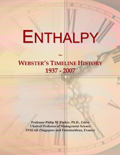 Enthalpy: Webster's Timeline History, 1937 - 2007