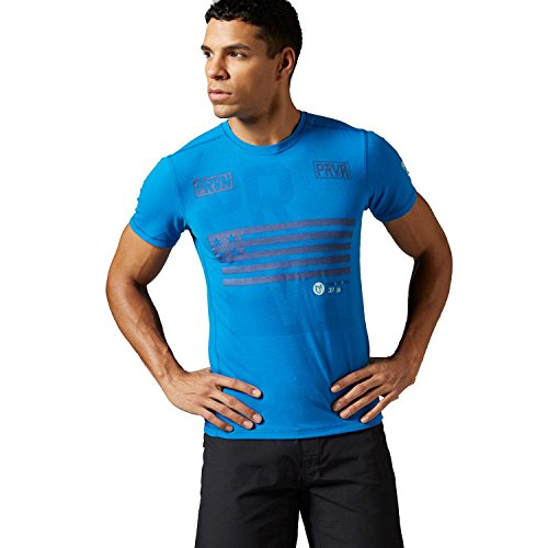 Reebok - Maglietta sportiva -  uomo Blu bluspo L