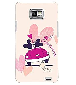 PrintDhaba Sweethearts D-2395 Back Case Cover for SAMSUNG GALAXY S2 (Multi-Coloured)