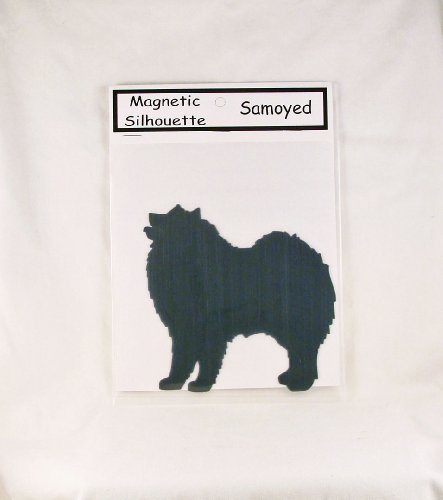 6642 Samoyed Standing Dog Breed Silhouette Magnet