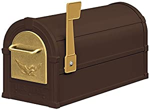 Salsbury Industries 4855E-BZG Eagle Rural Mailbox, Bronze/Gold Eagle