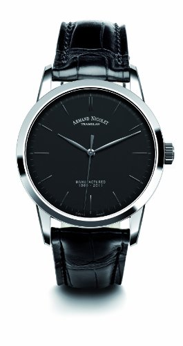 Armand Nicolet Men's 9670A-NR-P670NR1 L10 Limited Edition Stainless Steel Classic Hand Wind Watch