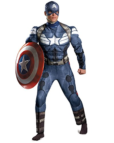 Captain America The Winter Soldier Adult Muscle Costume Size:XXL 50-52