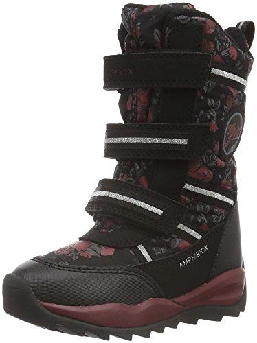Geox J Orizont B Girl Abx B, Stivali da Neve Bambina, Schwarz (BLACKC9999), 38 EU