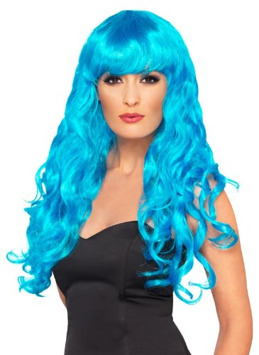 $9.99 Smiffy's Siren Wig, Electric Blue