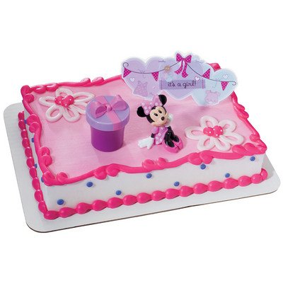 Mickey and Friends - Minnie Hat Box DecoSet Cake Decoration