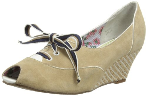 Poetic Licence Womens Of The Crop Peep-Toe 4173-02 Cream 3.5 UK, 36 EU