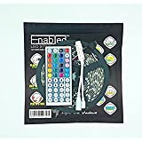 Enabled 16.4FT RGB 5050SMD Waterproof 300LEDs RGB 60 Flexible LED Strip Light Lamp Kit  44Key IR Remote Controller Mini RGB Controller(Power supply i
