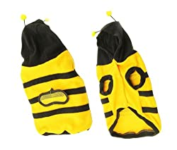 Demarkt Fashion Dog Cat Puppy Fleece Bumblebee Bee Hoodie Costume Clothes Pet Apparel Superdog Dress Up Pet Supplies Yellow and Black Size XS