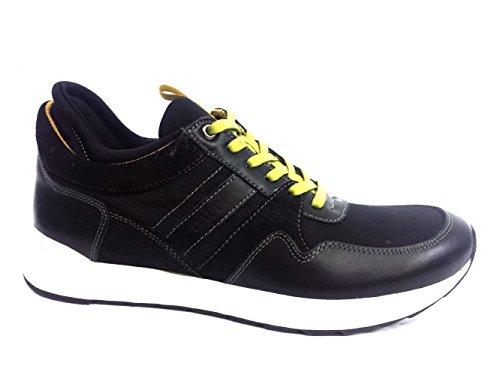 64953 BLACK Scarpa uomo sneaker running Gaudì pelle e tessuto
